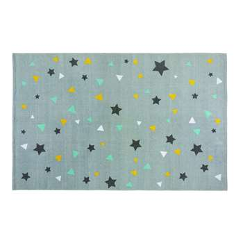 GRAPHIKIDS Patterned Grey Cotton Rug (120 x 180cm)