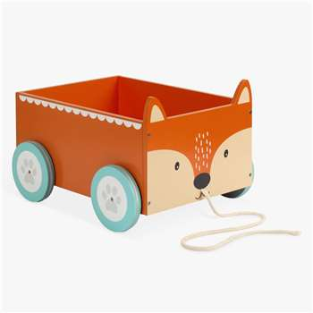 Great Little Trading Co Mr Fox Book Storage Cart, Orange (H22 x W28.5 x D34.5cm)