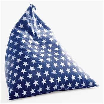 Great Little Trading Co Pyramid Bean Bag Chair, Navy Star