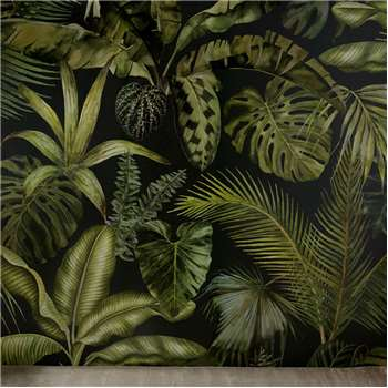 GREEN ADDICT - Non-Woven Wallpaper with Plant Print 288x350 (H350 x W288cm)