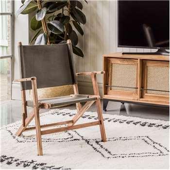 Green Canvas Folding Directors Chair (H61 x W61 x D76cm)