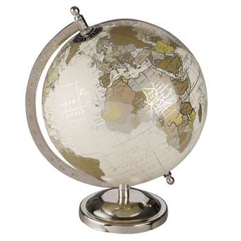 GREEN CLEMENCE Antique Effect Globe (28 x 20cm)