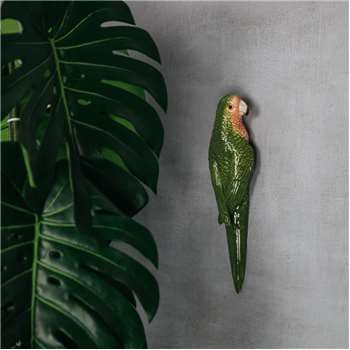 Green Parrot Wall Ornament (H30 x W8 x D6cm)