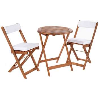 Greenhurst Hardwood Bistro Set with Natural Cushions