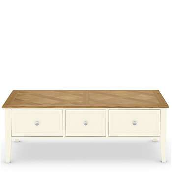 Greenwich Coffee Table, Oak (H44 x W123 x D65cm)