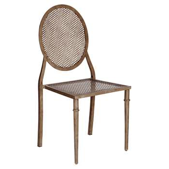 Greenwich Outdoor Chair, Wrought Iron - Brown (95 x 47cm)
