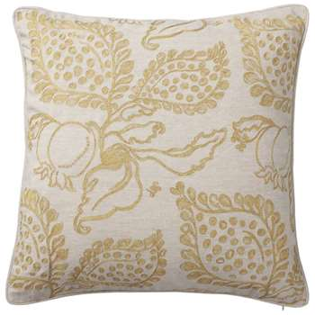 Grenadine Cushion Cover, Large - Gold/Natural