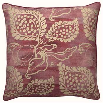 Grenadine Cushion Cover, Large - Red/Gold (51 x 51cm)