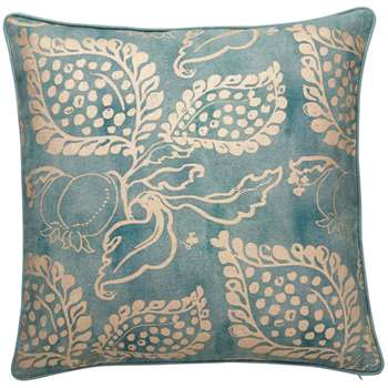 Grenadine Cushion Cover, Large - Turquoise/Gold (51 x 51cm)