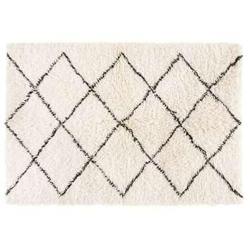 ISMA Grey Cotton and Wool Berber Rug (H160 x W230 x D3cm)