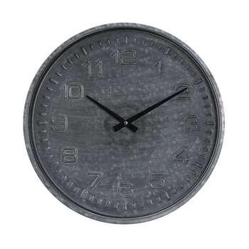 Grey Distressed Wall Clock (Diameter 39cm)