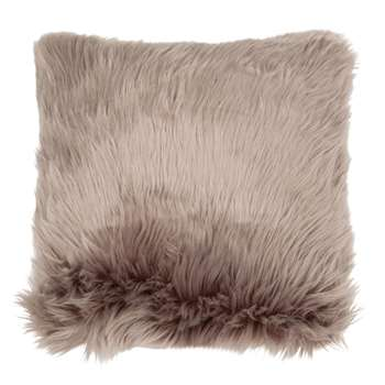 Grey Faux Fur Cushion Cover (H40 x W40cm)