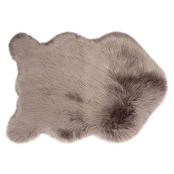 Grey Faux Fur Rug (H60 x W90cm)