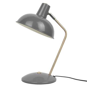 Grey Hood Table Lamp (H37.5 x W25 x D19.5cm)