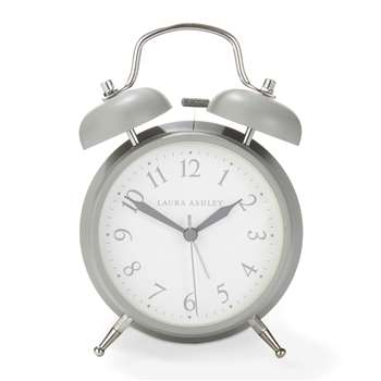 Grey Medium Bell Alarm Clock (17 x 11.7cm)