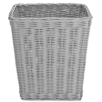 Grey Rattan Waste Paper Bin