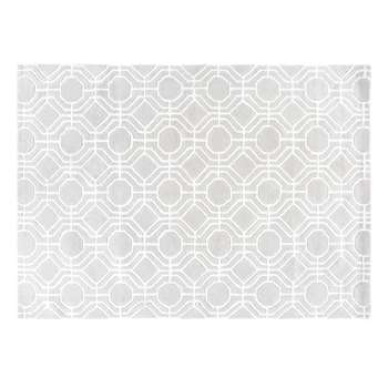 TWENTIES Grey Rug with Graphic Motifs (160 x 230cm)