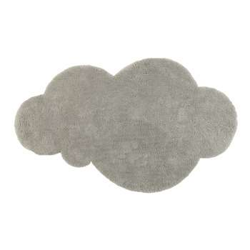 Grey short pile cloud rug (125 x 200cm)