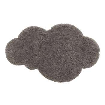 Grey short pile cloud rug (60 x 100cm)