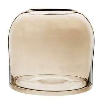 Grey Tinted Glass Vase (H16 x W17.5 x D17.5cm)