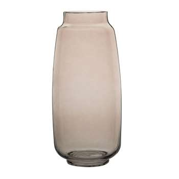 Grey Tinted Glass Vase (H32.2 x W15 x D15cm)