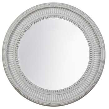 Groombridge Round Mirror - Chalk White (83 x 83cm)