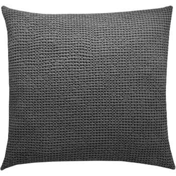 Grove 100% Cotton Cushion, Charcoal (H50 x W50cm)