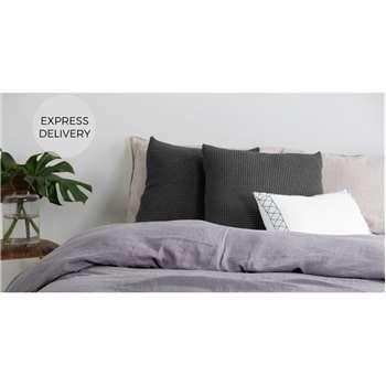 Grove 100% Cotton Cushion, Charcoal (H50 x W50cm)