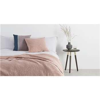 Grove 100% Cotton Cushion, Dusky Pink (H50 x W50cm)