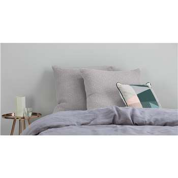 Grove 100% Cotton Cushion, Silver Grey (H50 x W50cm)
