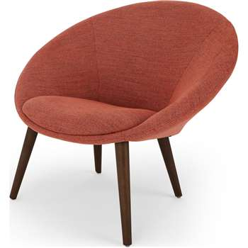 Grover Accent Chair, Revival Orange (H86 x W94 x D78cm)