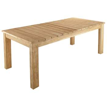 GUERANDE Recycled teak garden table W 220cm