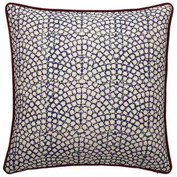 Guilloche Cushion Cover, Large - Blue (51 x 51cm)