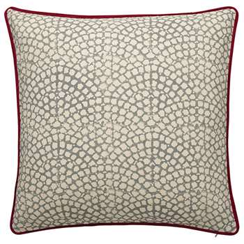Guilloche Cushion Cover, Large - Grey (51 x 51cm)
