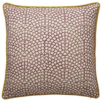 Guilloche Cushion Cover, Large - Plum (51 x 51cm)