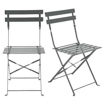 GUINGUETTE 2 metal folding garden chairs