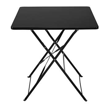 GUINGUETTE 2-seater folding garden table in black metal (72 x 70cm)