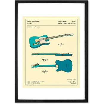 Guitar 3 by Jazzberry Blue, (A2) Framed Wall Art Print (H65 x W48cm)