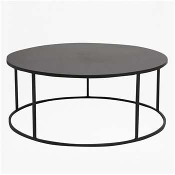 Gunmetal Coffee Table (H35 x W100 x D100cm)