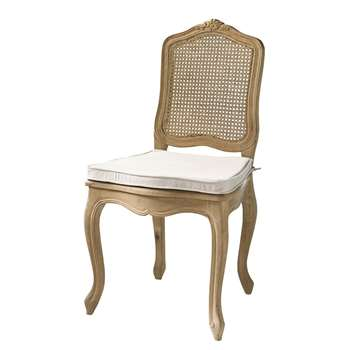 GUSTAVIA Solid oak and rattan cane chair (100 x 53cm)