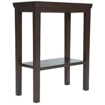 Gustavian Wooden Sofa Side Table - Rubbed Black (59 x 48cm)