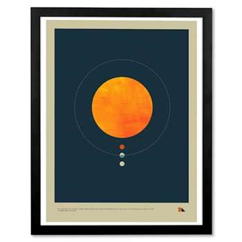 Habitable Zone by Justin Van Genderen, Framed Wall Art Print (H53 x W43 x D3cm)