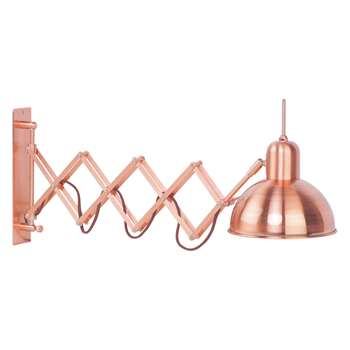 Habitat Aberdeen Copper Metal Wall Light (27 x 85cm)