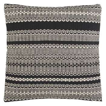 Habitat Agnes Black And Natural Stripe Cushion (H58 x W58cm)
