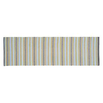 Habitat Agnes Blue Stripe Cotton Runner (75 X 250cm)