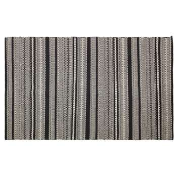 Habitat Agnes Cotton Rug - Black & Grey (H120 x W180cm)