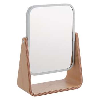 Habitat Ailie Natural Bamboo Two-sided Shaving Mirror (25 x 18cm)