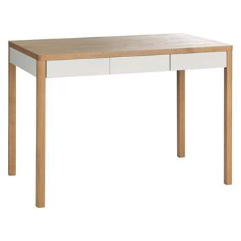 Habitat Albion 3 Drawer Oak Desk (77.8 x 113cm)