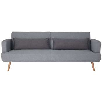 Habitat Andy 3 Seater Fabric Clic Clac Sofa Bed - Grey (H82 x W214 x D90cm)