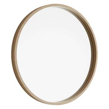 Habitat Ariano Maple Wood Round Wall Mirror (Diameter 63cm)